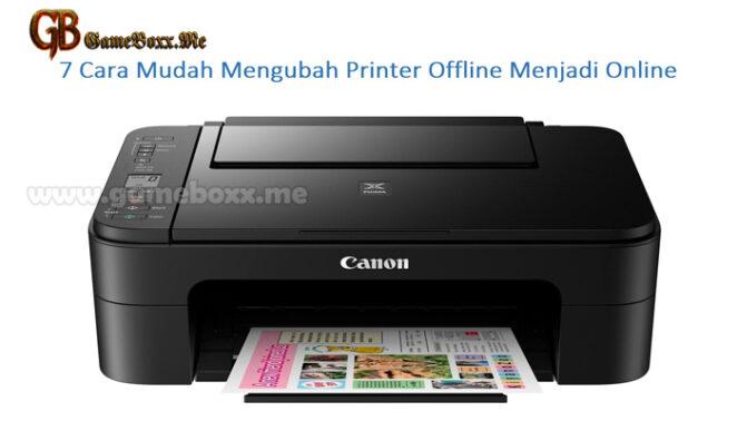 7 Cara Mudah Mengubah Printer Offline Menjadi Online