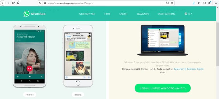 Cara Download WhatsApp Versi PC
