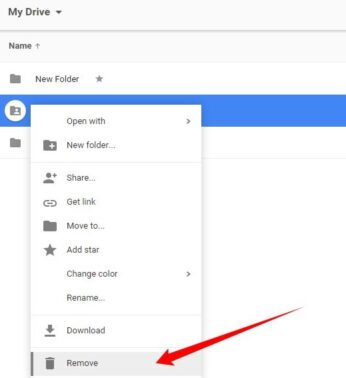 Caranya cari berkas yang berukuran besar, lalu klik titik tiga disamping berkas dan pilih opsi Delete