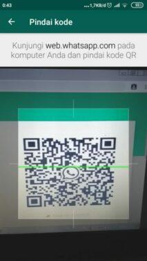 Scan QR Code pada layar PC