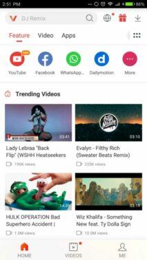 Sekarang buka Vidmate lalu klik ikon Youtube