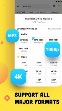 Sekarang klik ikon Download lalu pilih kualitas video yang diinginkan