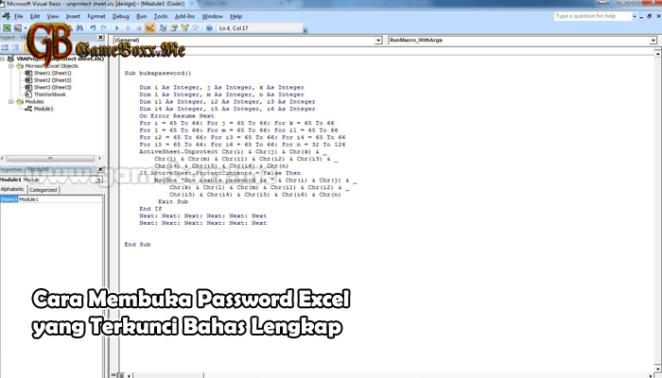 Cara Membuka Password Excel yang Terkunci Bahas Lengkap