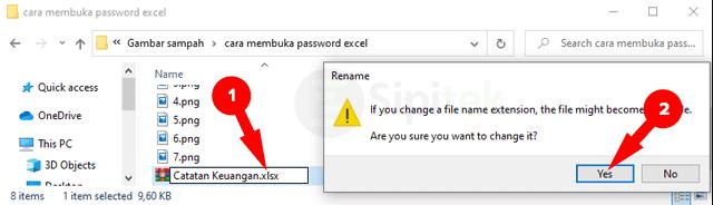 Gambar Ubah Format File ZIP ke XLSX
