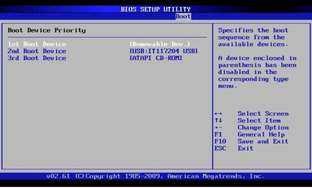 Jika sudah masuk BIOS, sekarang pilih metode booting