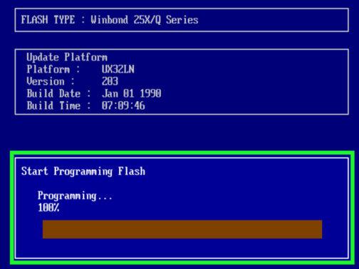 Klik Update di Menu BIOS