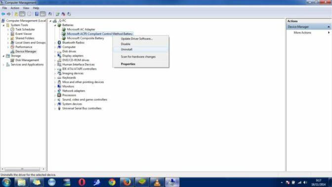 Klik kanan di file ACPI Compliant Control Method Battery