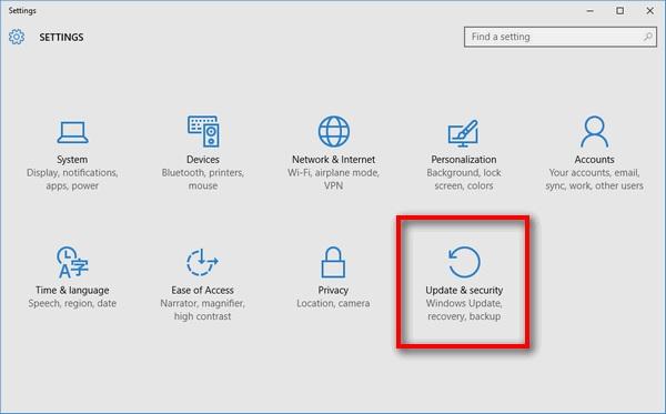 Saat muncul jendela yang baru, Anda tinggal klik Update & Security