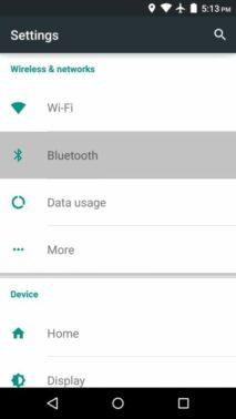 Setelah masuk ke setting, cari menu Bluetooth