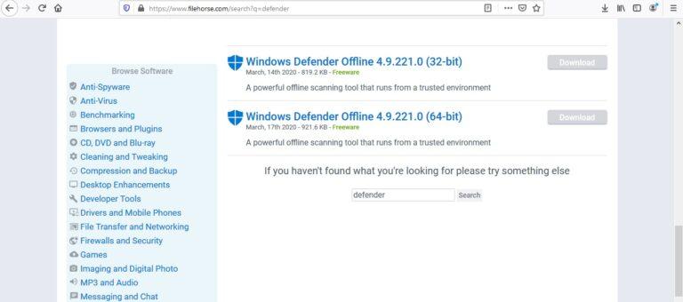 Setelah muncul hasilnya, pilih Windows Defender yang paling tepat untuk Anda