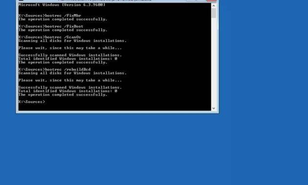 Tulis perintah bootrec fixboot dan tekan Enter