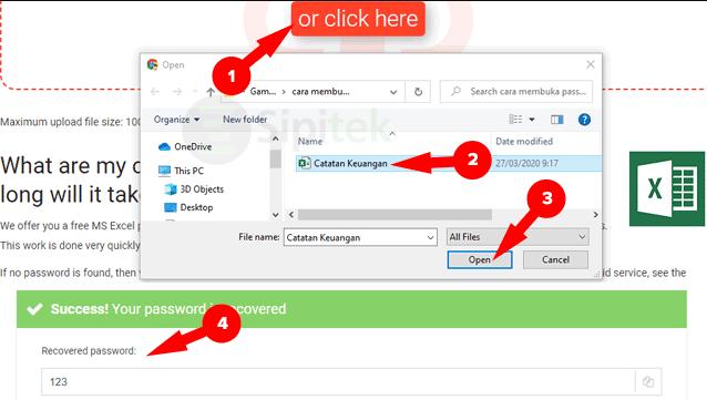 gambar Membuka Password Excel Online