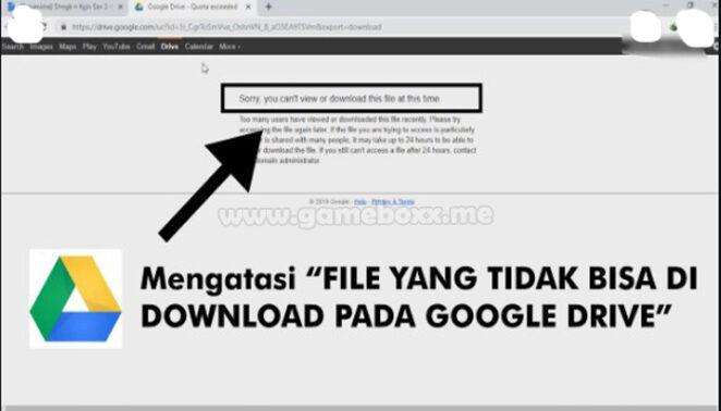 3 Cara Mengatasi Tidak Bisa Download di Google Drive (100% Bisa)