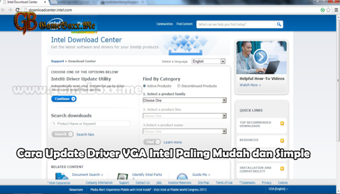 Cara Update Driver VGA Intel Paling Mudah dan Simple
