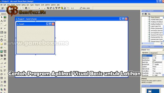 Contoh Program Aplikasi Visual Basic untuk Latihan