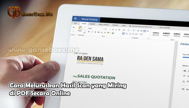Cara Meluruskan Hasil Scan yang Miring di PDF Secara Online